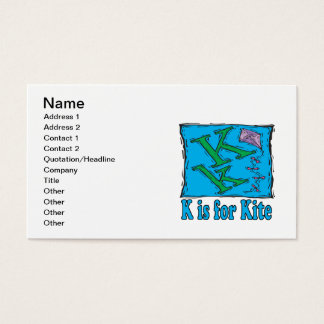 K Is For Kite 3 Business Card