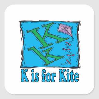 K Is For Kite 3 Square Sticker