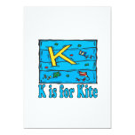 K Is For Kite 4 5x7 Paper Invitation Card