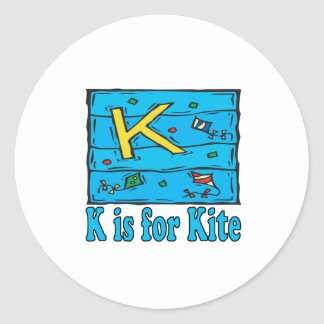 K Is For Kite 4 Classic Round Sticker