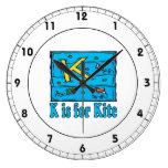 K Is For Kite 4 Clock