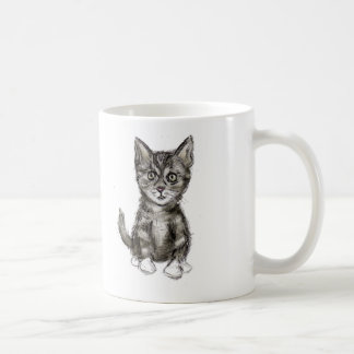 K is for Kitten Classic White Coffee Mug