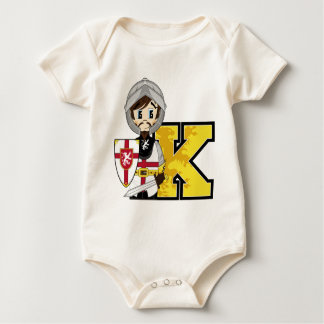 K is for Knight Baby Bodysuit