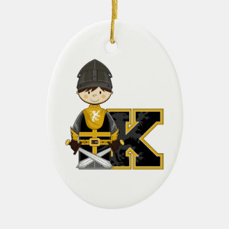 K is for Knight Ceramic Ornament