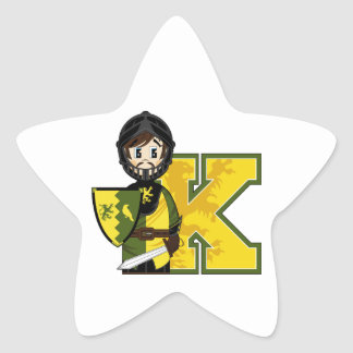K is for Knight Star Sticker