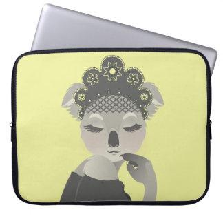 K is for Koala in a Kokoshnik Laptop Sleeve