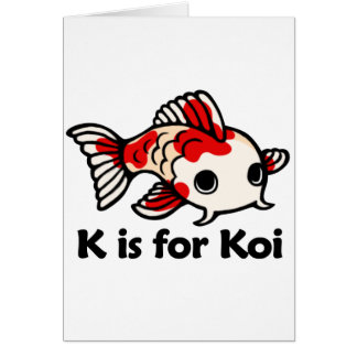 K is for Koi Card