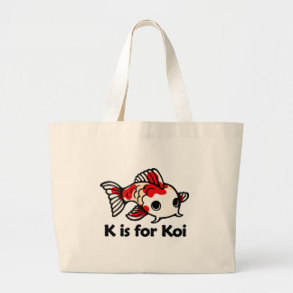 K is for Koi Large Tote Bag