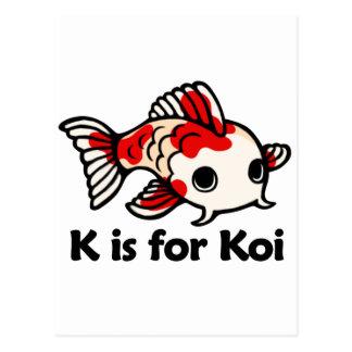 K is for Koi Postcard