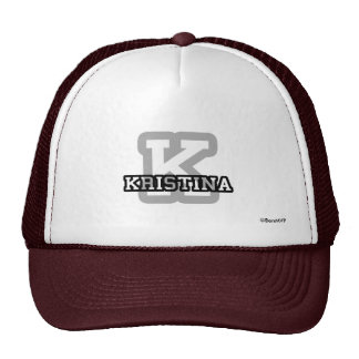 K is for Kristina Mesh Hat