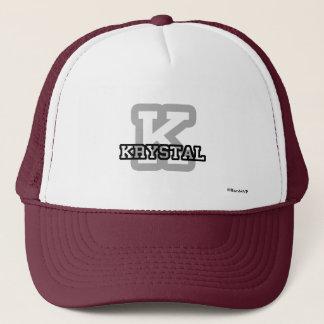K is for Krystal Trucker Hat