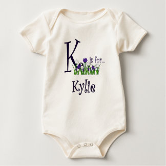 K is for Kylie Cute Spring Flowers T-shirt