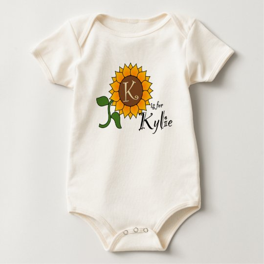K is for Kylie Sunflower T Shirt