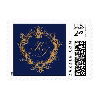 K J Monogram Mirror Mirror stamp