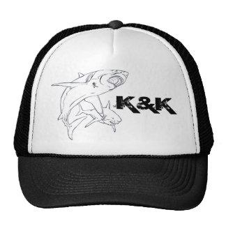K&k del tiburón blanco gorras de camionero