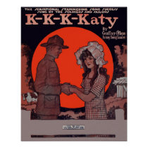 K-K-K-Katy Vintage Sheet Music Poster
