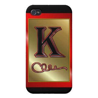"""""""K"""" k Monogram Letter K Initial surname christian Cases For iPhone 4"""