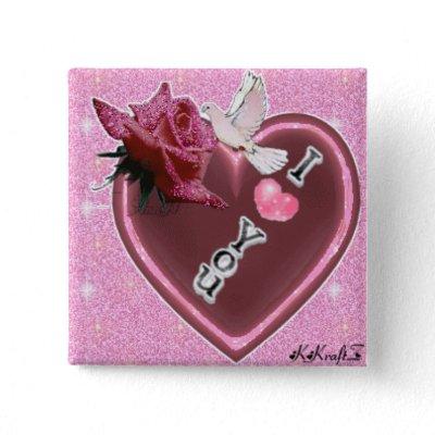 Heart Rose Dove I Love You