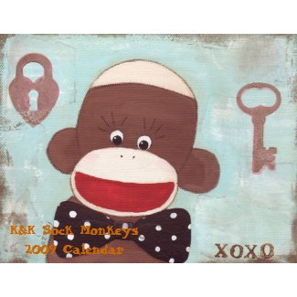 K&K Sock Monkeys 2009 Cale... calendar
