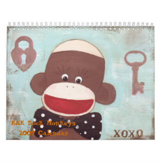 K&K Sock Monkeys 2009 Cale... Calendar