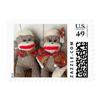 K&K Sock Monkeys(Paisley) Postage