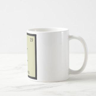 K - Kakapos Chemistry Periodic Table Element Classic White Coffee Mug