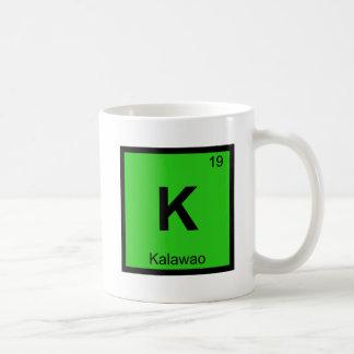 K - Kalawao Molokai Hawaii Chemistry Symbol Coffee Mugs