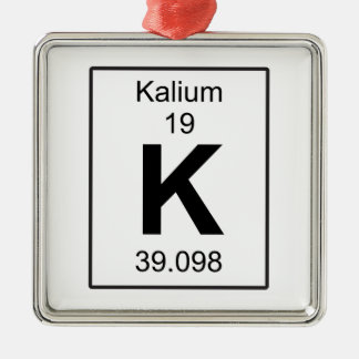 K - Kalium Metal Ornament