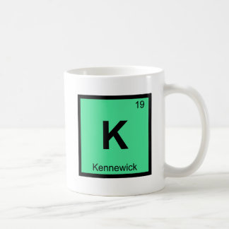 K - Kennewick Washington Chemistry Periodic Table Classic White Coffee Mug