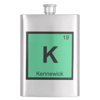 K - Kennewick Washington Chemistry Periodic Table Flasks
