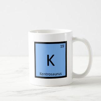 K - Kentrosaurus Dinosaur Chemistry Symbol Coffee Mug