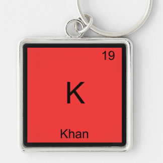 K - Khan Funny Chemistry Element Symbol T-Shirt Keychains