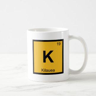 K - Kilauea Volcano Chemistry Periodic Table Coffee Mug