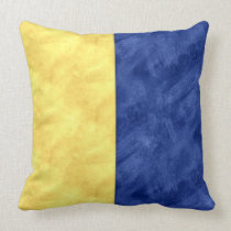 K Kilo Watercolor Nautical Signal Maritime Flag Throw Pillow