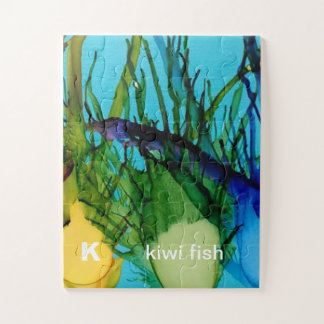 K - Kiwi Fish alphabet art puzzle