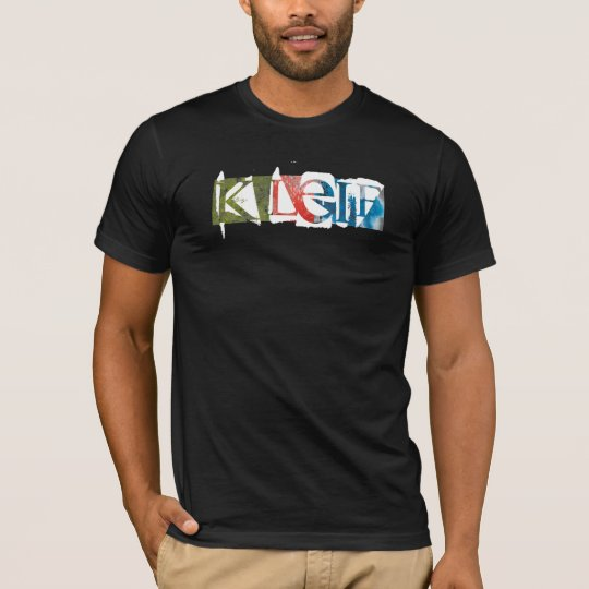 K LEIF multiclr stamp print T-Shirt