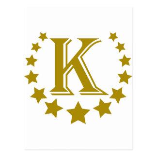 K-Letter-Stars-Crown- Postcard