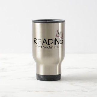"K.M. Golland READING ""IT'S WHAT I DO"" Travel Mug"