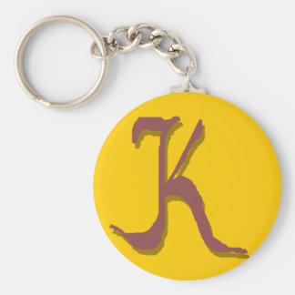 K (Maroon) Keychain