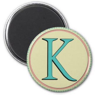K MONOGRAM LETTER FRIDGE MAGNETS