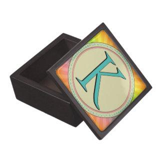 K MONOGRAM LETTER PREMIUM KEEPSAKE BOXES