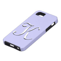 K Monogram Periwinkle IPhone 5 Case