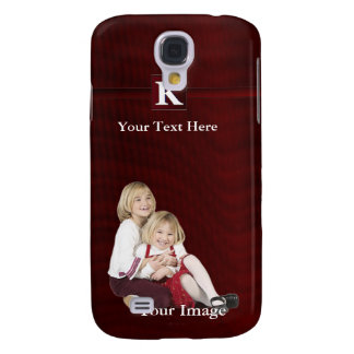 K – Monogram Photo Template Add Your Image & Text Samsung Galaxy S4 Case