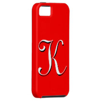 K Monogram Red IPhone 5 Case