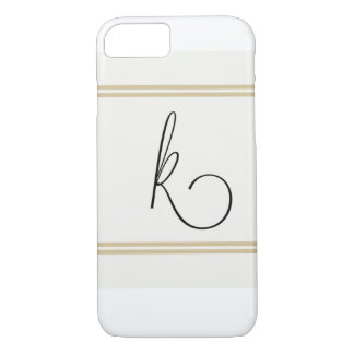 K Monogramed Iphone case