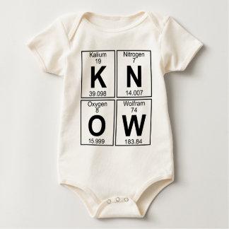 K-N-O-W (know) - Full Baby Bodysuit