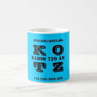 K O T Z, RADIO 720 AM, FAX 2292 INFO 4636, MESS... COFFEE MUG