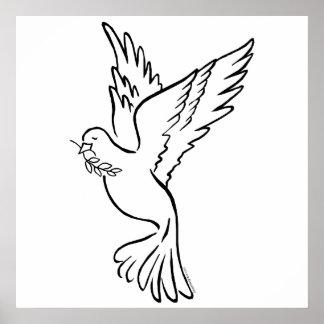 K - Paloma de la paz Posters