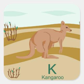K para el pegatina del canguro