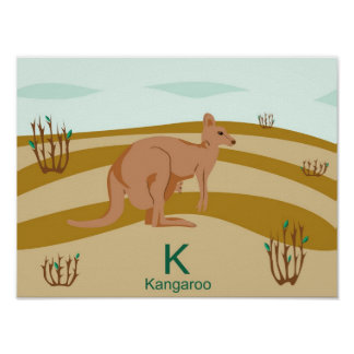 K para el poster del canguro